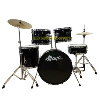 Maya Drum Set new 2017 model with Cymbals chrome edition(Black) Price Philippines