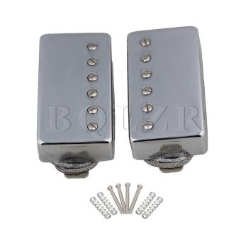 Metal Wire Electric Guitar Humbucker Bridge Neck Pickups Set of 2 Silver - intl