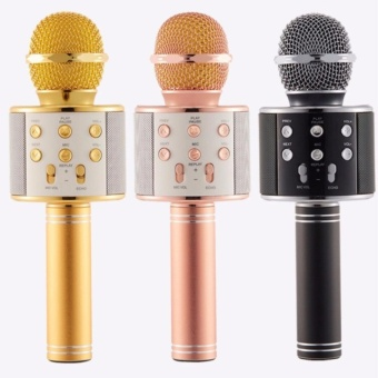 Microphone Wireless KTV Karaoke Bluetooth Handheld Mic HIFI Speaker Set of 3 WS858