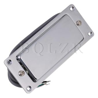 Mini Guitar Humbucker Pickup for Electric Guitar Silver