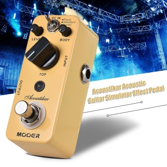 MOOER Acoustikar Acoustic Guitar Simulator Effect Pedal True Bypass with 3 Modes (Piezo/Standard/Jumbo) - intl - 2