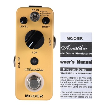 MOOER Acoustikar Acoustic Guitar Simulator Effect Pedal True Bypass with 3 Modes (Piezo/Standard/Jumbo) - intl - 5