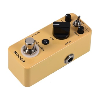 MOOER Acoustikar Acoustic Guitar Simulator Effect Pedal True Bypass with 3 Modes (Piezo/Standard/Jumbo) - intl - 4