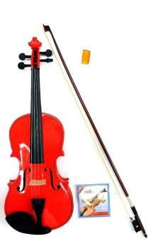 Mozart 4/4 Glossy Violin (Pomelo Pink) 5-piece Set - picture 2