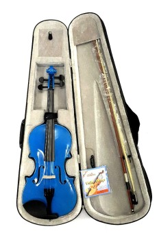 Mozart 4/4 Violin (Glossy Blue) 5-piece Set