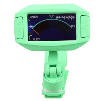 Multi-function Full Color Display Musical Instrument Clip-on Tuner (Green)