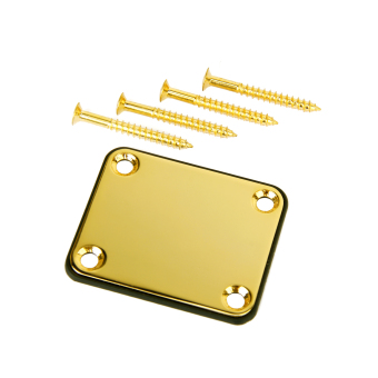 Neck Plate w/ Screws For Fender Strat Electric Guitar Gold