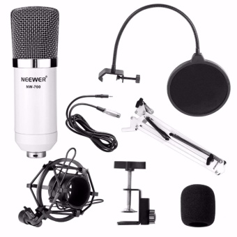 Neewer NW-700 Microphone Kit,Professional Broadcasting Studio Recording Condenser Microphone Mic Kit with Shock Mount Adjustable Suspension Scissor Arm Stand Mounting Clamp Pop Filter Outdoorfree - intl - 5