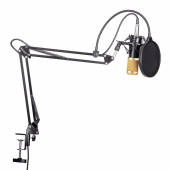Neewer Professional Studio Broadcasting Recording Condenser Microphone Mic Kit & NW- 35 Adjustable Recording Microphone Suspension Scissor Arm Stand with Shock Mount Adjustable Suspension Scissor Arm Stand Mounting Clamp Pop Filter Outdoorfree - intl