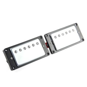 New 2pcs Humbucker Double coil pick-up LP Guitar Pickup ForReplacement Sliver Surface Black Box - Intl - 2