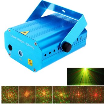New Mini Portable Red Green Laser Meteor Karaoke Projector Lights DJ KTV Home Party Dsico Xmas LED Stage Lighting (US Plug) - intl