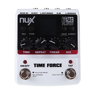 NUX Time Force+charger Stomp Boxes Multi Digital Delay 11 EffectsElectric Guitar Effect Pedals