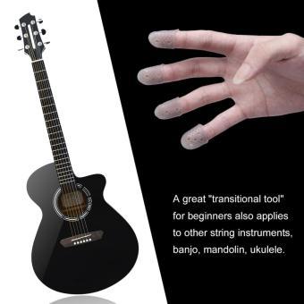 OH Reusable Durable Guitar Fingertip Protectors Finger Guards For Ukulele Guitar Gray - 2