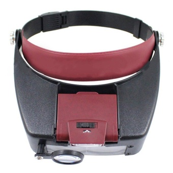 OH Wearable Magnifier Helmet Magnifying Glass Loupe Automatic Boosting Device Red - intl Price Philippines