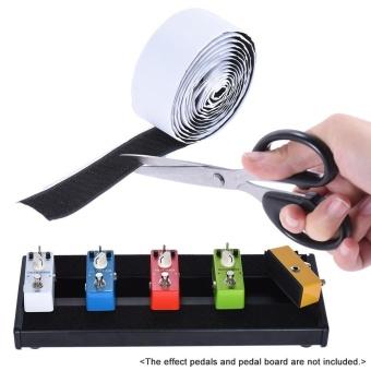 Pedalboard Pedal Mounting Tape Fastener Length 2M Width 3CM forGuitar Pedal Board, 2-Pack (1 Hook + 1 Loop) Outdoorfree - intl - 2
