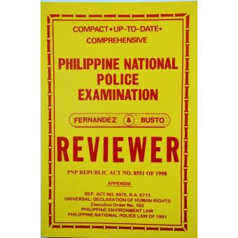 Philippine National Police Examination Reviewer Price Philippines