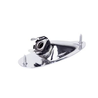 plated Boat Output Plate Jack Socket for Electric Guitar Chrome