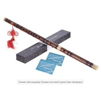 Pluggable Bitter Bamboo Flute Dizi Traditional Handmade Chinese Musical Woodwind Instrument Key of C Study Level Professional Performance Outdoorfree - intl