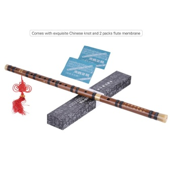 Pluggable Bitter Bamboo Flute Dizi Traditional Handmade Chinese Musical Woodwind Instrument Key of D Study Level Professional Performance Outdoorfree - intl