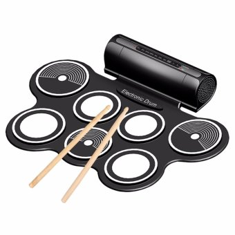 Portable Foldable Silicone Electronic Drum Pad Kit Digital USB MIDIRoll-up with Drumstick Foot Pedal 3.5mm Audio Cable Outdoorfree (NOCD/DEMO SONGS INCLUDED!!!)