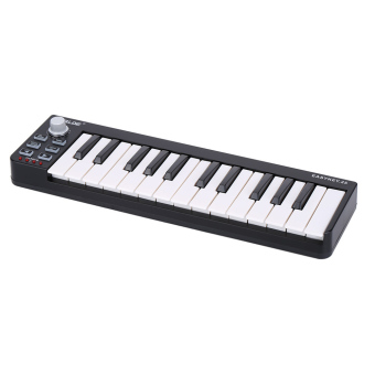 Portable Mini 25-Key USB MIDI Keyboard Controller with USB Cable - 3