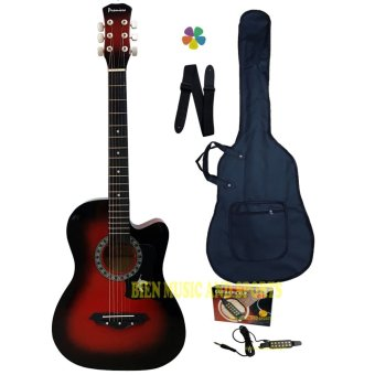 Premiere Acoustic Guitar With Detachable Guitar Pick Up(Red Burst) Price Philippines
