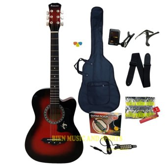 PREMIERE multifunctional acoustic guitar(red burst)