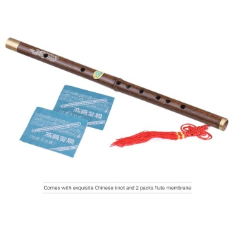 Professional Black Bamboo Dizi Flute Traditional Handmade ChineseMusical Woodwind Instrument Key of C Study Level ^ - intl