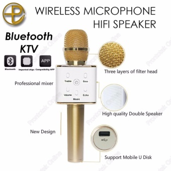 Q7 Wireless Bluetooth Microphone & HiFi Speaker Karaoke KTV