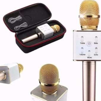 QF Q7 Portable Rechargeable Wireless Bluetooth Speaker MicrophoneMic(GOLD)