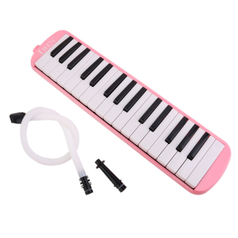 RIS IRIN 32 Key Melodica with Case Musical Instrument Pink - intl Price Philippines