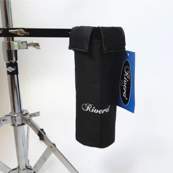 RIVERA Drum Stick Holder Drumsticks Bag Hang on Drum Set BlackColor - intl