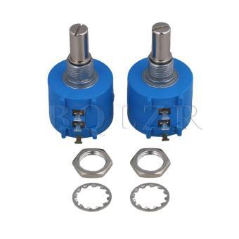 Rotary Wirewound Precision Potentiometer Pot Set of 2 Blue