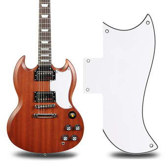 Scratch Plate PickGuard Gibson SG Style Electric Guitars (White)(Intl)
