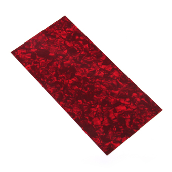 Shell Celluloid Guitar Head Veneer Shell Sheet Red Tortoise - picture 2