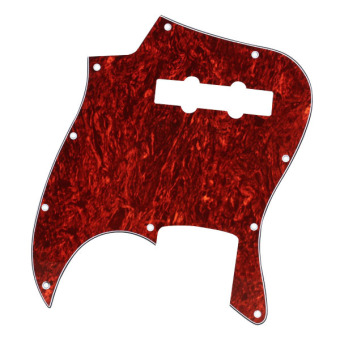 Shell Pickguard 3 Ply For Jazz J Bass Guitar Red Tortoise