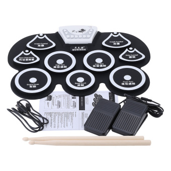 Silicone Portable Foldable Digital USB Midi Roll-up Electronic Drum Pad Kit (Intl)