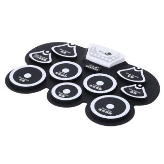 Silicone Portable Foldable Digital USB Midi Roll-up Electronic Drum Pad Kit (Intl) - 3