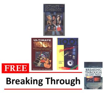 Silver Edition and 1001 Ultimate Songbook Volumes 1 and 2 Bundle of 3 with FREE Breaking Through