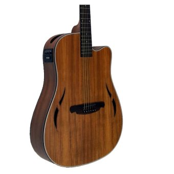SQOE Acoustic-electric guitar side hole(Brown) - 2