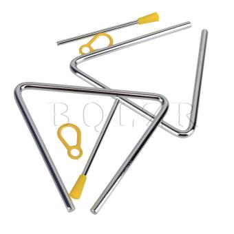Stainless Steel Triangle Bell Set of 2 Silvery, yellow