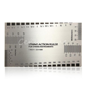 String Action Gauge Ruler Guide Setup Measuring Luthier Height Gage for Guitar