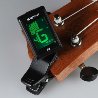 SWIFF A2 Mini Clip-On Automatic Digital Tone Tuner LCD for Acoustic Electric Guitar Bass Chromatic Violin Ukulele