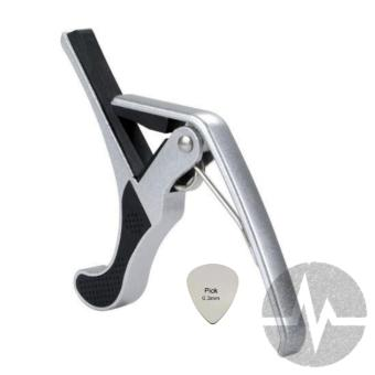 Thomson Capo with stainless pick for guitar (Silver)