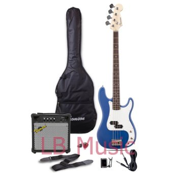 Thomson Electric Bass Guitar with 15watts amp Package (Blue)