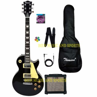 Thomson Les Paul bolt-on with portable amp Package Electric Guitar(black)