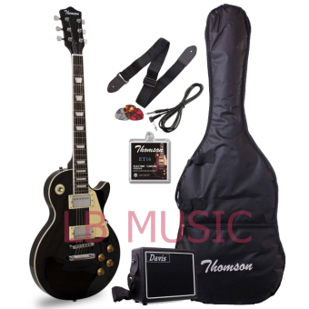 Thomson Les Paul Set Neck with portable amp Package Electric Guitar(Black)