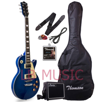 Thomson Les Paul Set Neck with portable amp Package Electric Guitar(Blue)