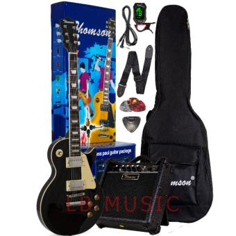 Thomson Les Paul w/ heavy duty amp, tuner and Complete accessoriesPackage Electric Guitar (Black)