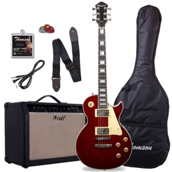 Thomson Les Paul with 40watts amp Package Electric Guitar (WIneRed)